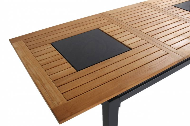Concept Alu-teak Extension 240/180×100 FSC Granite