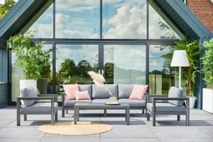 Bilde av Capri Lounge Set m/bord – Charcoal